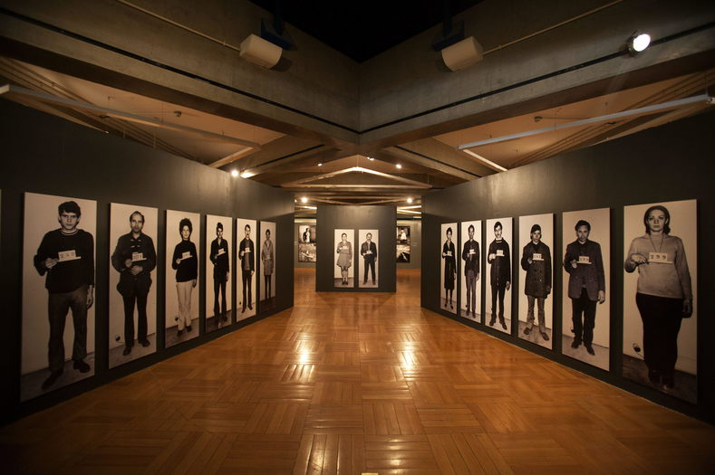 An exhibit of photographs displaying the victims of Operation Condor in Sao Paolo, Brazil, Sept. 23, 2014.