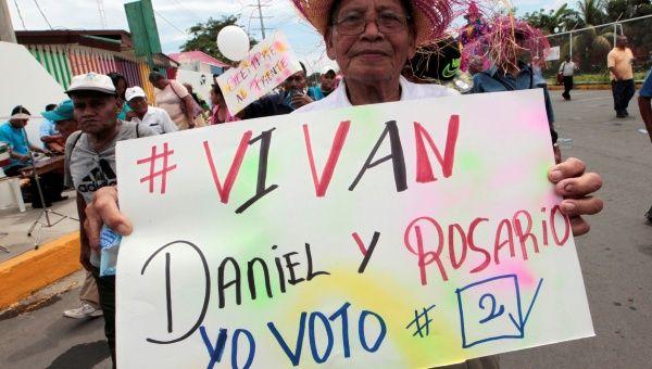 Daniel Ortega y Rosario Murillo tienen más de 60 por ciento de intención de voto.