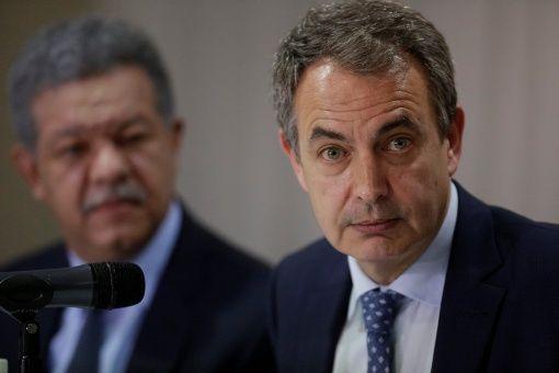 Rodríguez Zapatero ofreció declaraciones a la televisión boliviana.