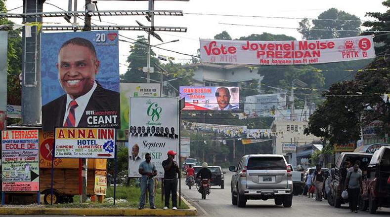 Los candidatos más conocidos son Jovenel Moise, del Partido Haitiano Tet Kale (PHTK); y Jude Celestin, de la Liga Alternativa por el Progreso y Emancipación Haitiana (Lapeh); Jean Henry Ceant, candidato por al formación Renmen Ayiti; y Edmonde Beauzile del Partido Fusión de los Socialdemócrata y Maryse Narcisse, candidata por la Familia Lavalas, partido del expresidente Jean Bertrand Aristide.