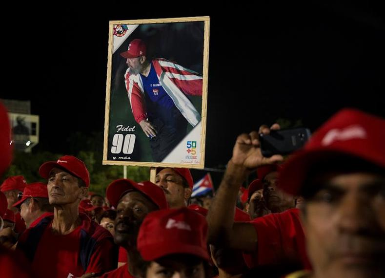 Throughout the day, the Cuban people marched toward the iconic Revolution Square to listen to a tribute to the historic leader.