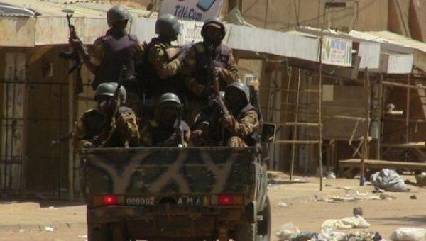Mali soldiers patrol northern Mali.