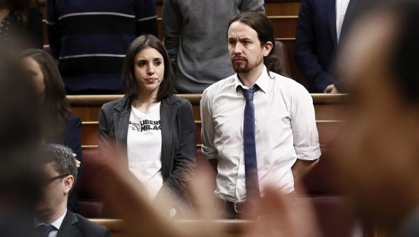 Secretary-General of Podemos Pablo Iglesias, and the party
