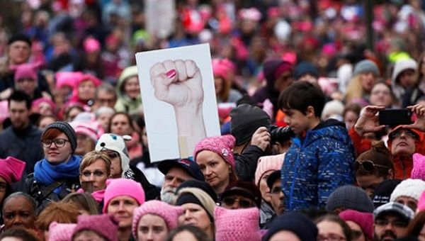 The historic anti-Trump women's marches in January will be followed by an International Women