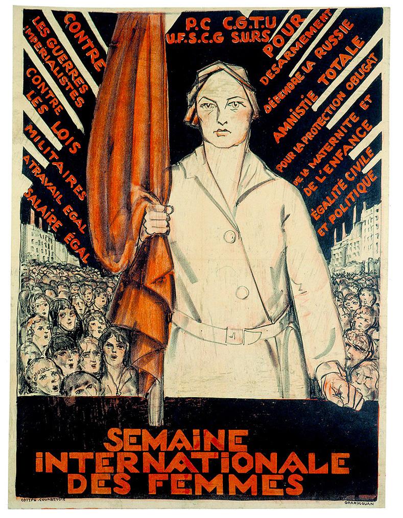 French communist poster for International Women