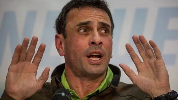Venezuelan opposition leader Henrique Capriles Radonski.