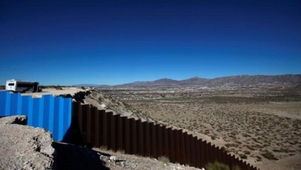 A general view shows a newly built section of the U.S.-Mexico border fence at Sunland Park, U.S. opposite the Mexican border city of Ciudad Juarez, Mexico Jan. 26, 2017.