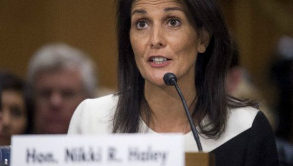 Ambassador Nikki Haley accused the UN of being unfairly biased in favor of the Palestinian Authority to the detriment of Israel.