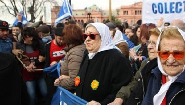 Argentina's Grandmothers of the Plaza of Mayo.