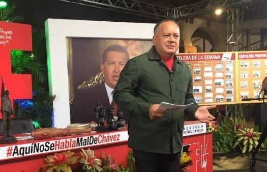 Diosdado Cabello durante su más reciente programa Con el mazo dando, en VTV.