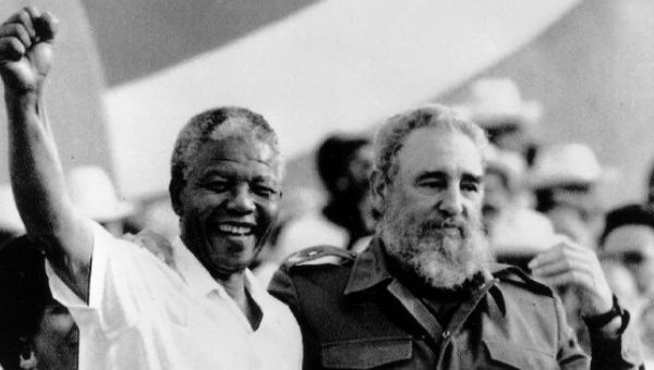 Inseparable in the struggle against colonialism, Nelson Mandela and Fidel Castro