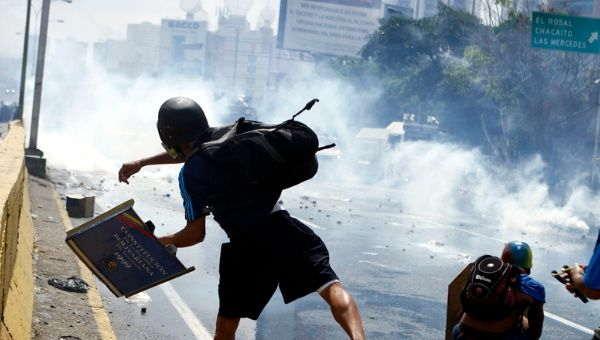 Violent opposition protests aim to oust the democratically-elected government of Venezuela.