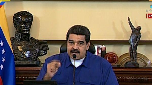"""""""¿Dónde está la Organización de Estados Americanos (OEA) ante la decisión de Estados Unidos?"""", se preguntó el líder venezolano."""