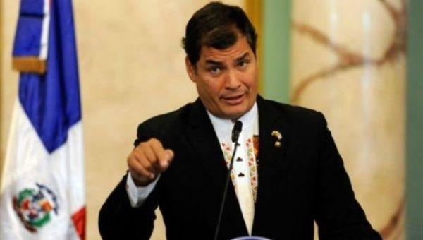 Former President of Ecuador, Rafael Correa.