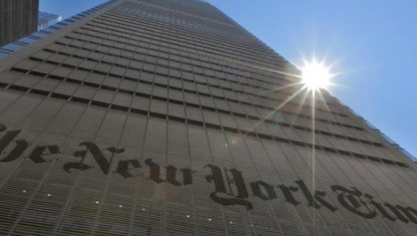 The New York Times Building in midtown Manhattan