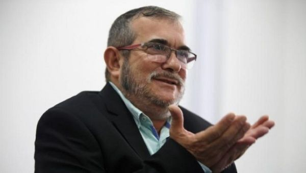 FARC-EP leader Rodrigo Londoño, or Timochenko (above), is among those who the lawyer said had a bounty on his head by a criminal organization.
