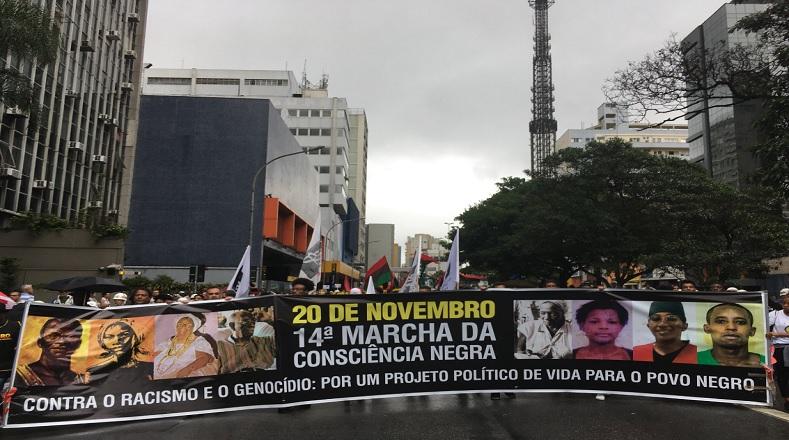 Los brasileños se han acostumbrado a marchar a final de año en pro de las personas de color.