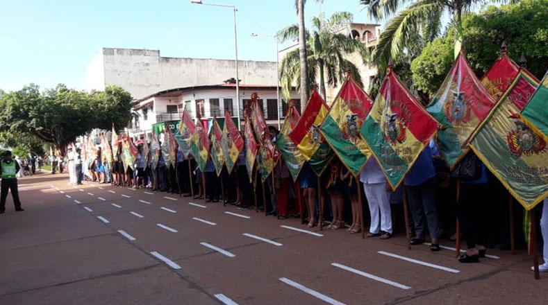 """El mandatario boliviano recordó que hace siete años se encontraban en la misma plaza y prometió que llevaría el caso a organismos internacionales ante la falta de respuesta por parte de Chile. Manifestó que el """"Gobierno de Bolivia sigue cumpliendo""""."""