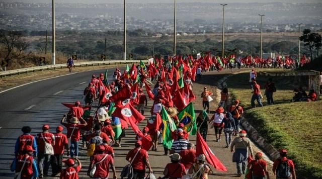 La movilización se proyectará hasta el miércoles 15 de agosto donde los integrantes de la marcha se pronunciarán a favor del exmandatario y acompañarán a quienes registrarán la candidatura de Lula para las presidenciales previstas para el domingo 7 de octubre.