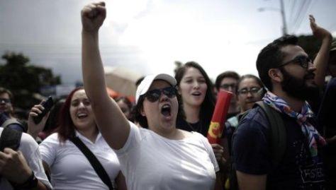 Estudiantes de la UCR han realizado protestas en edificios de la universidad en varias partes del país para exigir respeto a sus derechos.