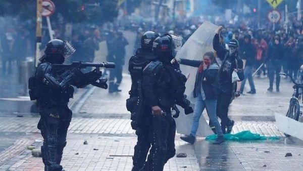 Resultado de imagen para disturbios marchas colombia