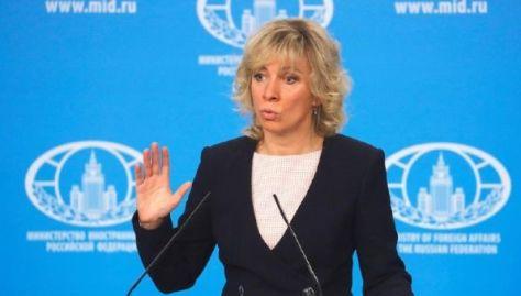 """Acusan a Rusia """"sin abosultamente ningún hecho para fundamentar sus acusaciones"""", expresó Zajárova."""