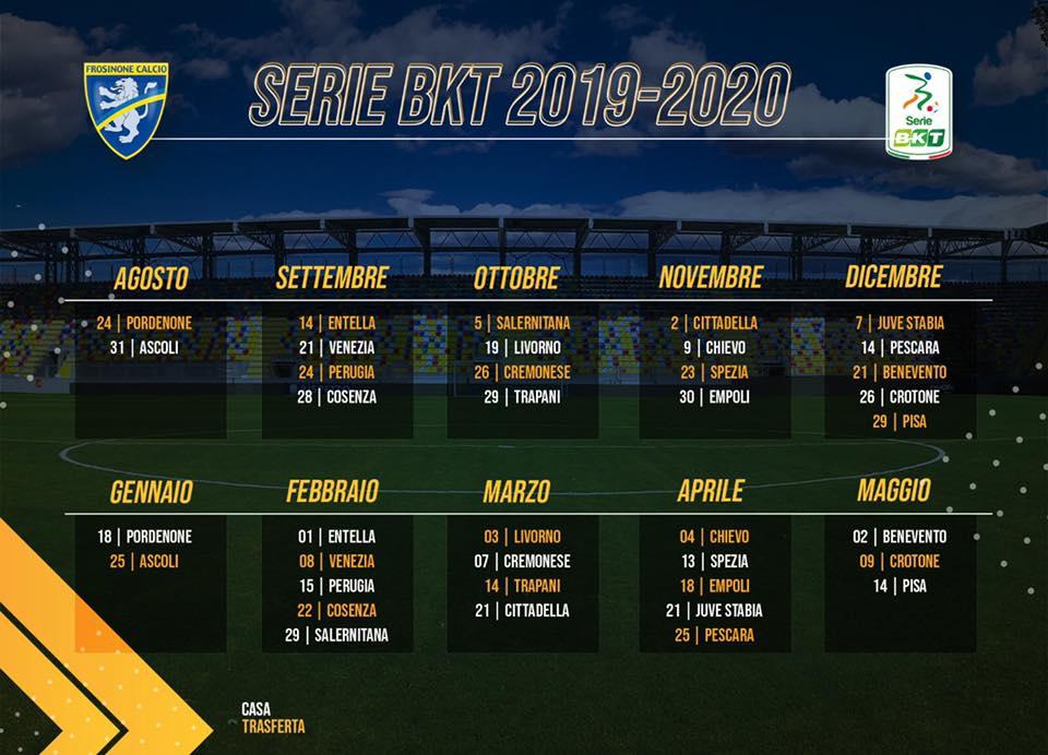 Calendario Benevento Calcio.Calcio Frosinone Ecco Il Calendario Della Prossima