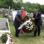 Zólyombúcson emléktáblát avattak három magyar katona sírján