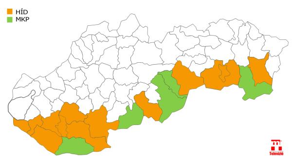 MKP-HÍD ki hol szerzett több szavazatot