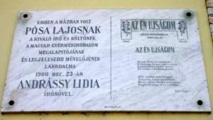 Pósa Lajos emléktáblája