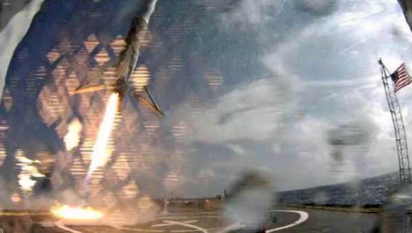 CRS-6 First Stage Landing