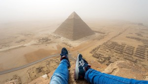 Andrej Ciesielski a piramis tetején
