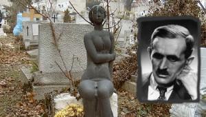 Rideg Sándor sírja Budapesten. Farkasréti temető: 7/7-1-76. Fritz János alkotása.