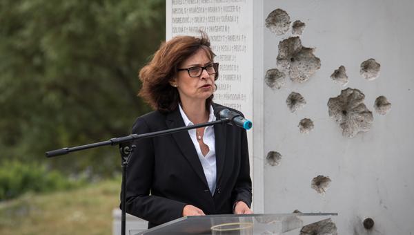 A diktatúrák áldozataira emlékeztek a Szabadság kapujánál