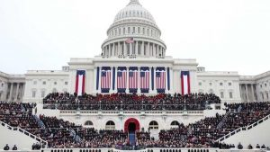 President Barack Obama gives his inauguration address