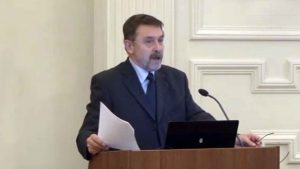 Mészáros András külső tag székfoglaló előadása