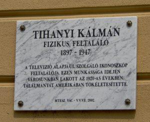 Tihanyi Kálmán emléktáblája