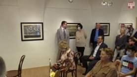 A Vajda Júlia-kiállítás megnyitója