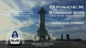 SpaceX Starship SN9 12,5 km-es tesztrepülés