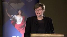 Karikó Katalin előadása az MTA közgyűlésén