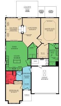 Montgomery 2 Bedroom Floor 1