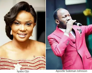 Actress, Iyabo Ojo finally open up about her relationship with Apostle Suleman Johnson