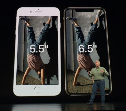 iPhone XS Max and iPhone 8 Plus