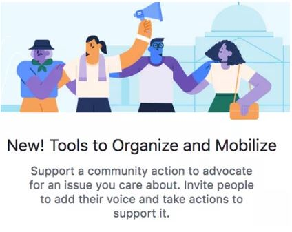 Facebook Community Action for petitioning