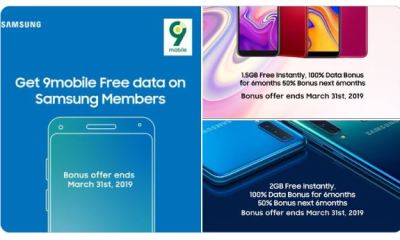 Get Free 9Mobile Data on Samsung Phones