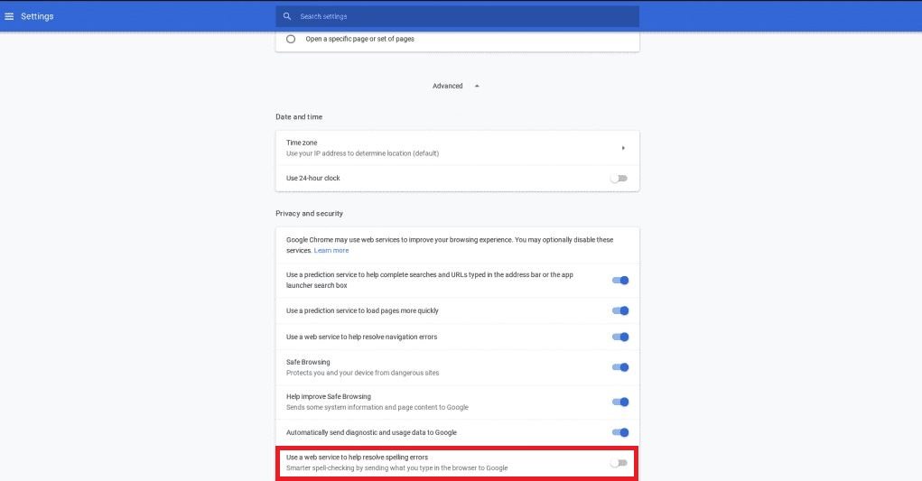 Configuring you chromes inbuilt dictionary 3 Google Chrome Spell Checker Not Working? How to fix it
