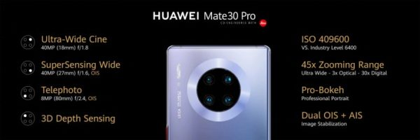Mate 30 pro camera features