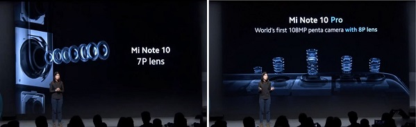 Difference between Mi Note 10 and Note 10 Pro