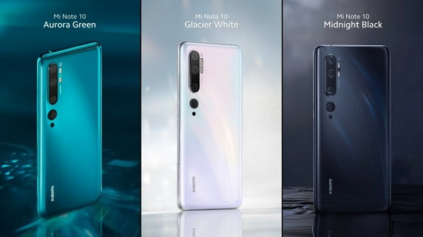 Xiaomi Mi Note 10 Camera Properties