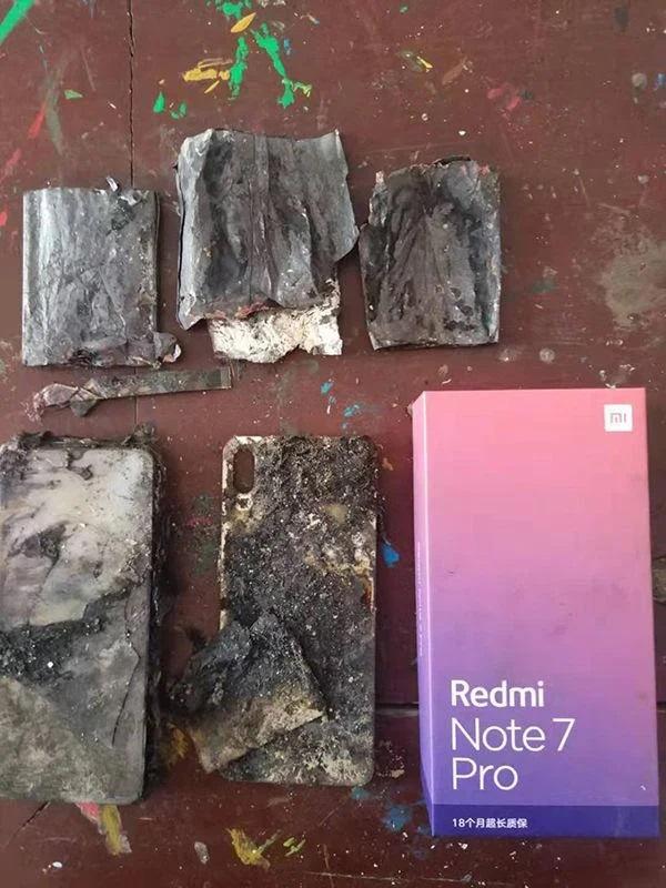 Xiaomi Redmi Note 7 Pro Got Exploded